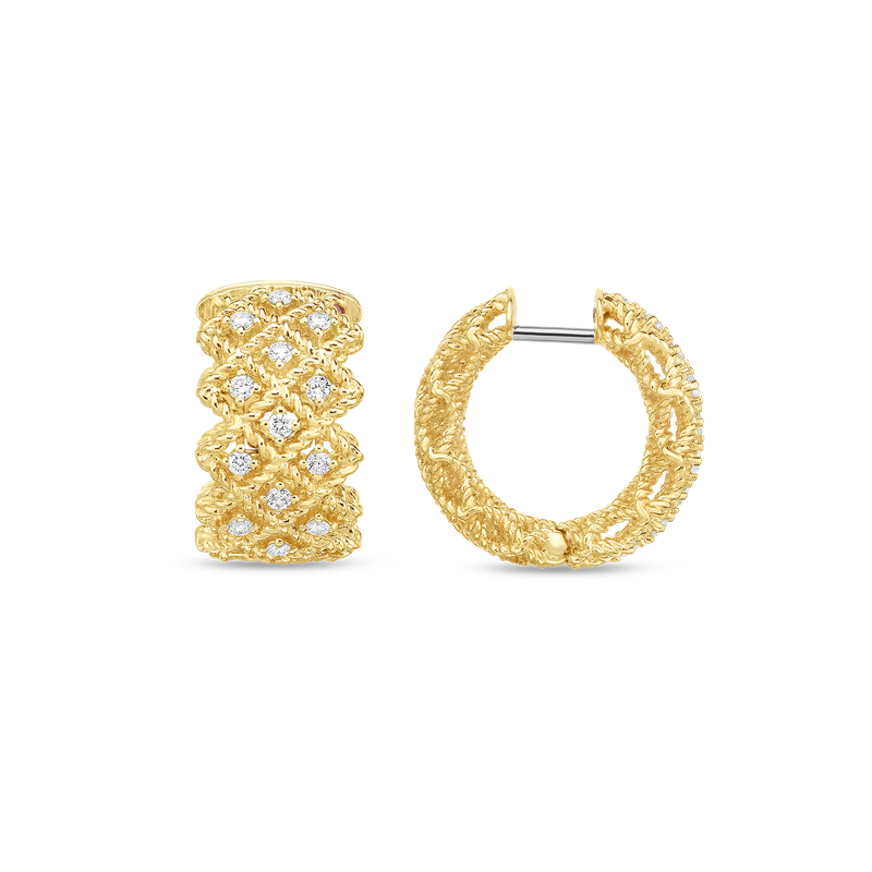 Roberto Coin  #19396 Of Three Row Hoop Earring
