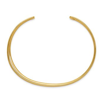 14k 18.5mm Polished Cuff Bangle