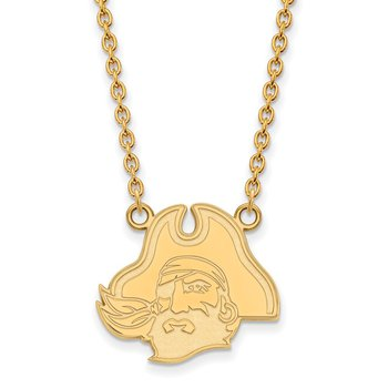Gold East Carolina University NCAA Necklace