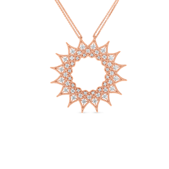 18K DIAMOND ACCENT LARGE STARBURST PENDANT