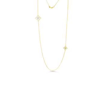 18Kt Diamond & Mother Of Pearl Long Necklace