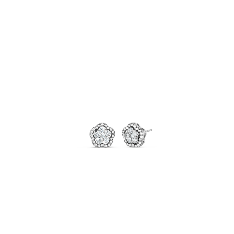 Roberto Coin 18Kt Gold Classic Diamond Earrings