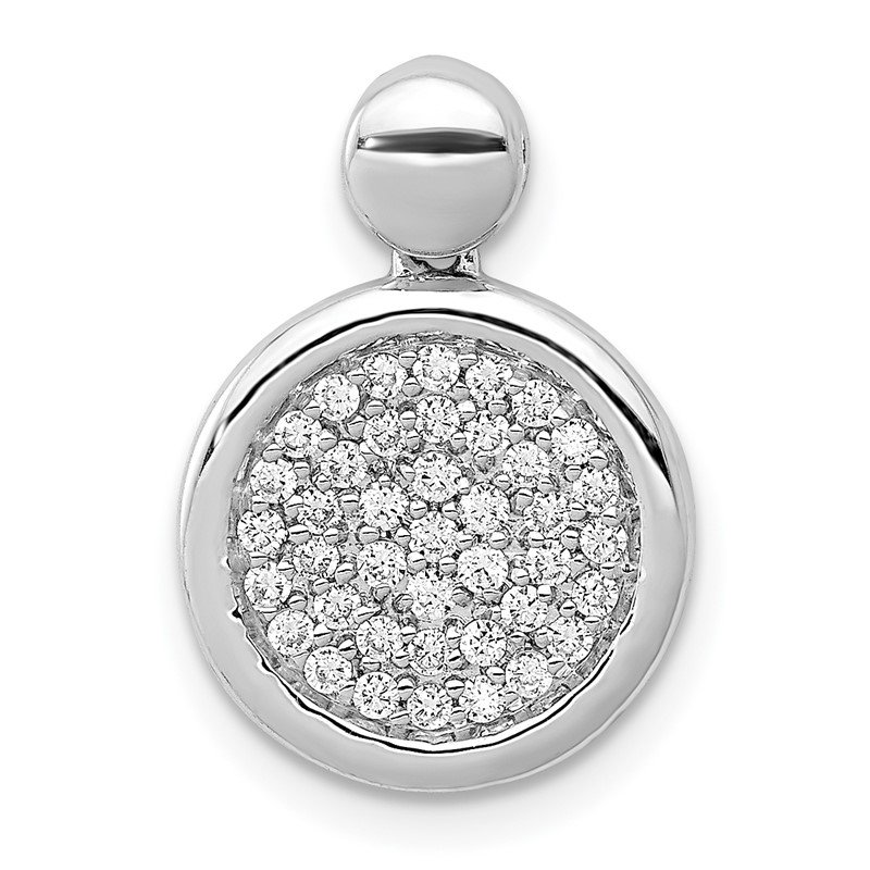 Quality Gold 14k White Gold 1/4ct. Diamond Fancy Circle Pendant