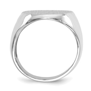 14k White Gold 20.5x16.0mm Open Back Signet Ring