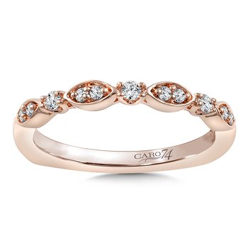 Stackable Wedding Band in 14K Rose Gold (.14 ct. tw.)
