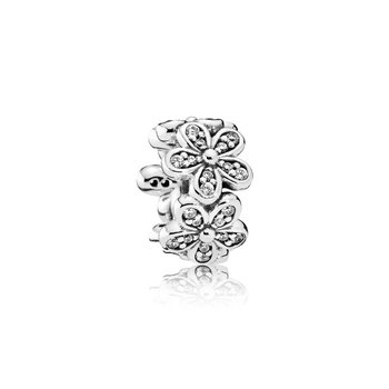 Dazzling Daisies Spacer, Clear CZ