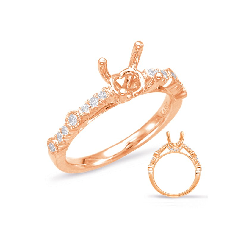 S. Kashi  & Sons Rose Gold Engagement Ring