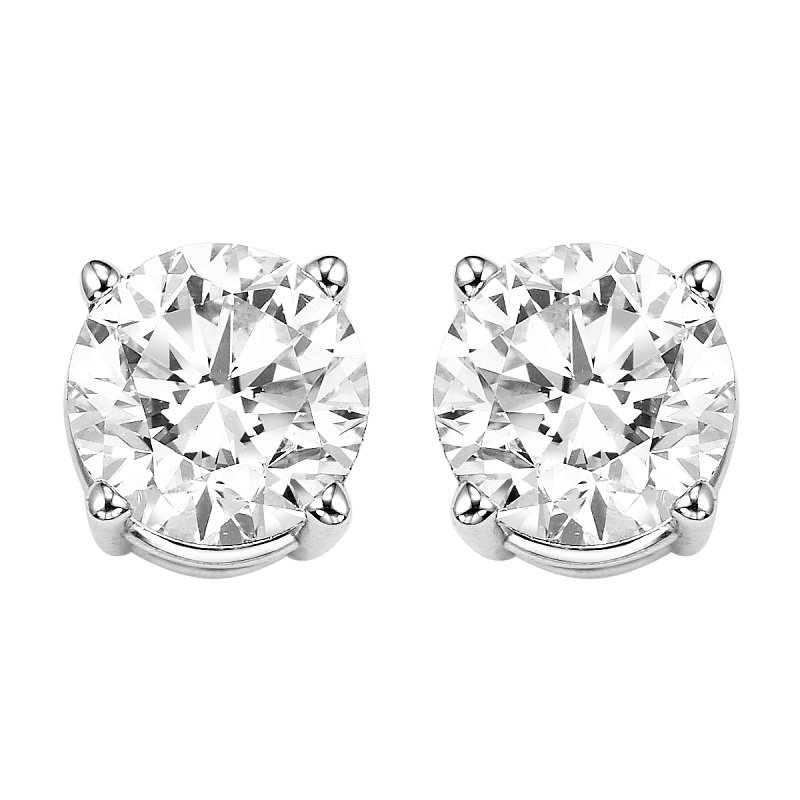 Gems One Diamond Stud Earrings in 14K White Gold (2 ct. tw.) I2/I3 - H/K