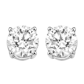 Diamond Stud Earrings in 14K White Gold (2 ct. tw.) I2/I3 - H/K
