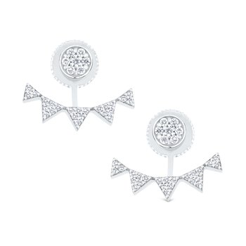 14K Diamond Earrings with Jackets