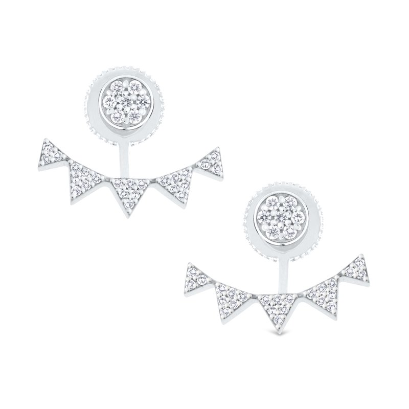 KC Designs 14K Diamond Earrings with Jackets