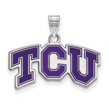 Sterling Silver Texas Christian University NCAA Pendant