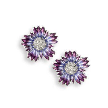 Purple Coastal Tidytip Stud Earrings.Sterling Silver