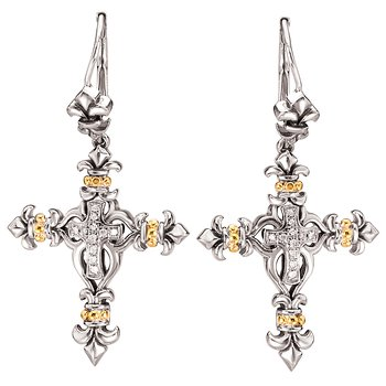 Ladies Fashion Cross Earrings