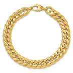 J.F. Kruse Signature Collection 14k Polished & Textured Fancy Link Bracelet