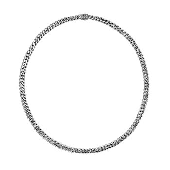 Classic Chain Curb Link Necklace in Silver. Available at our Halifax Store.