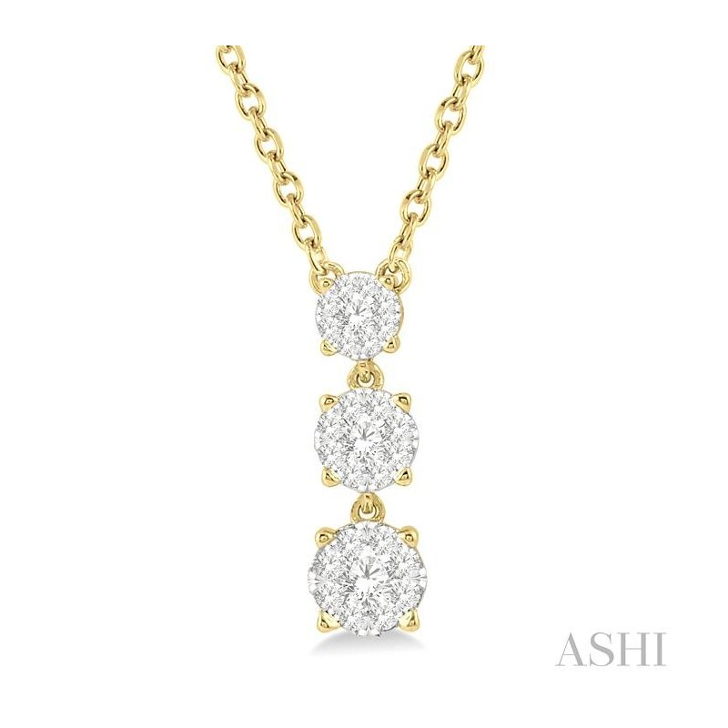 ASHI past present & future lovebright diamond necklace