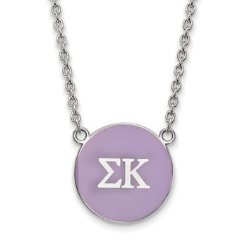 Sterling Silver Sigma Kappa Greek Life Necklace