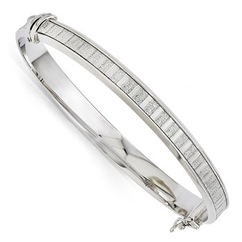 Leslie's Sterling Silver Polished Glimmer Infused Bracelet