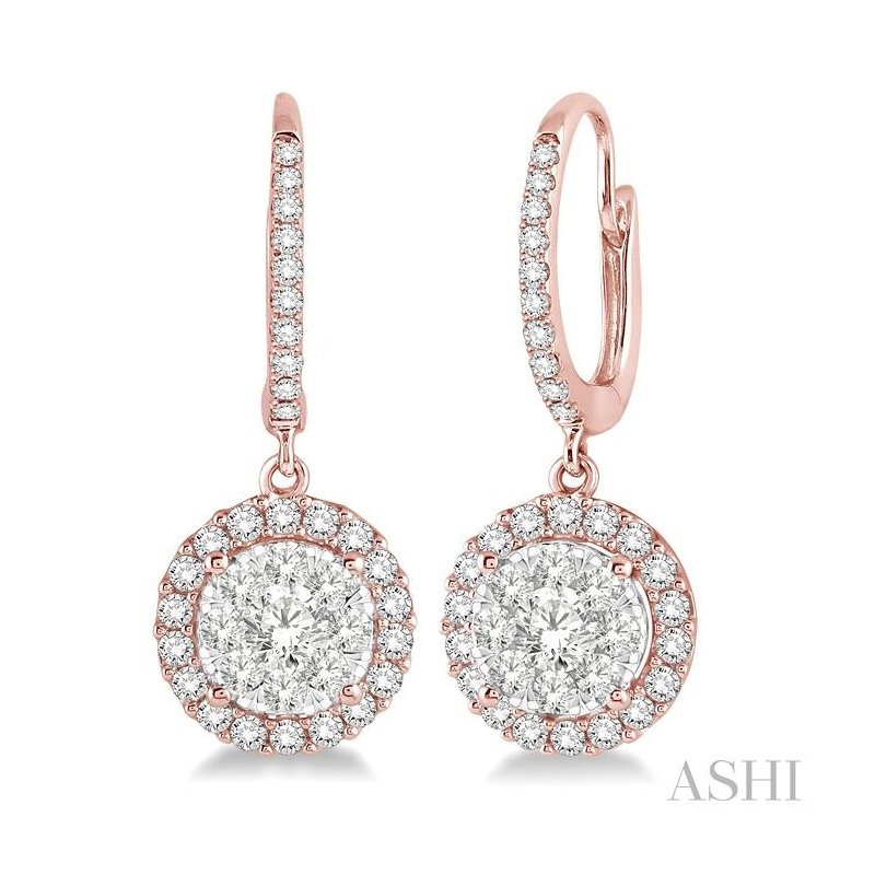 ASHI lovebright diamond earrings