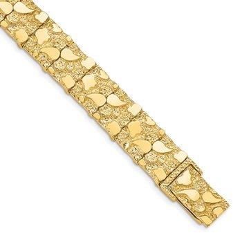 14k 12.50mm Nugget Bracelet
