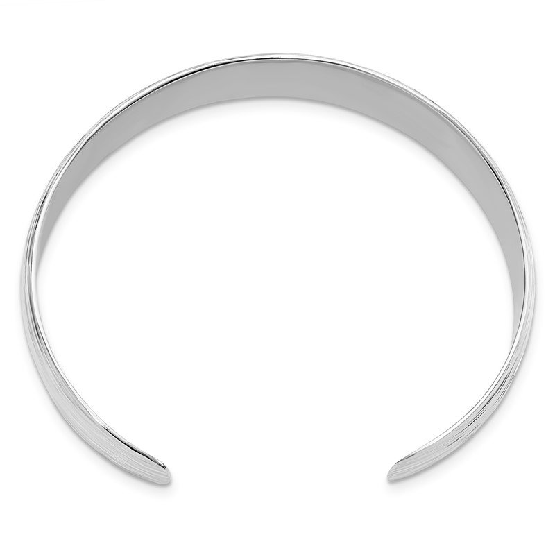 Leslie's Leslie's Sterling Silver Polished and Textured Slip-on Bangle
