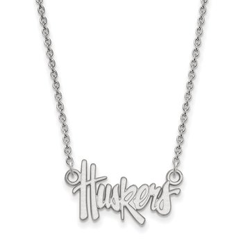 Sterling Silver University of Nebraska NCAA Necklace