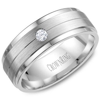 CrownRing Men's Wedding Band WB-7108SP