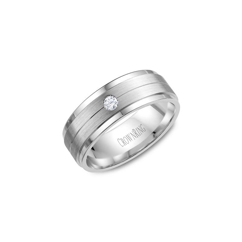 CrownRing CrownRing Men's Wedding Band WB-7108SP