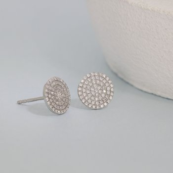 Right Round Sterling Silver Earrings