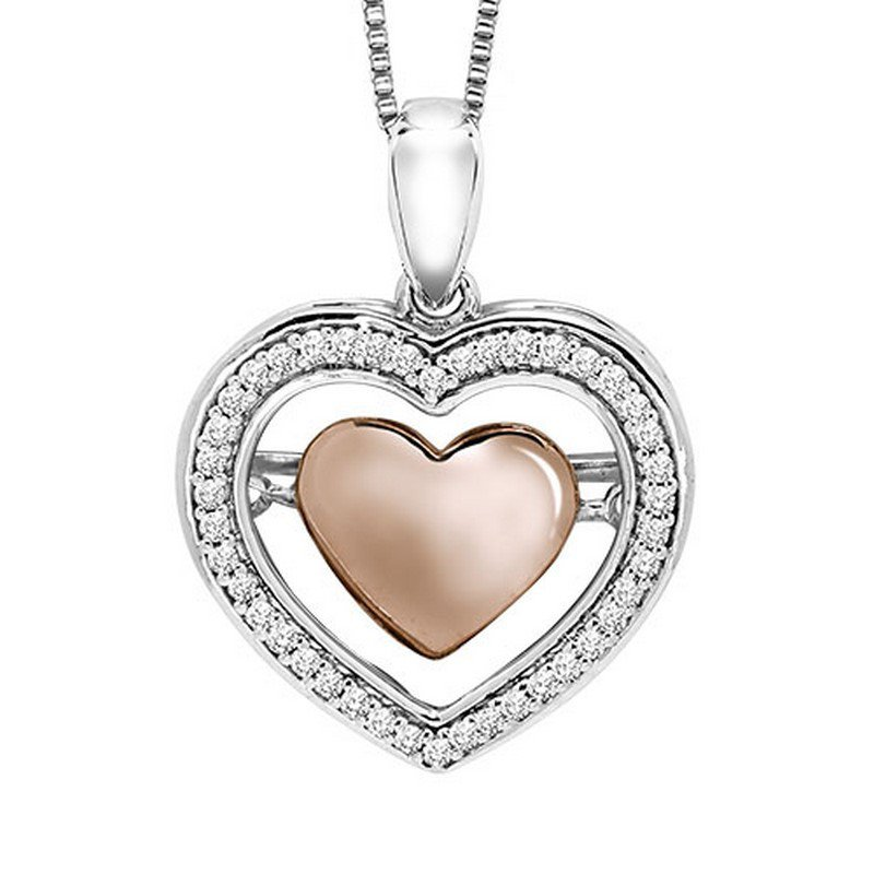 Rhythm of Love 10K Diamond Rhythm Of Love Pendant 1/7 ctw
