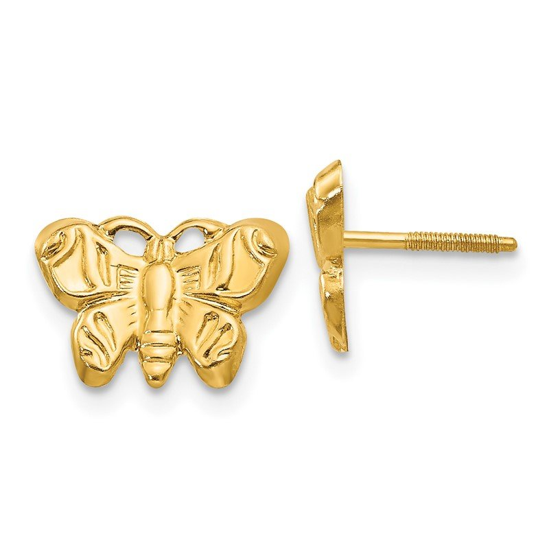 Quality Gold 14k Madi K Butterfly Earrings