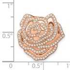 Quality Gold 14k Rose Gold 1/2ct. Diamond Fancy Flower Chain Slide