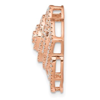 14k Rose Gold 1/2ct. Diamond Fancy Flower Chain Slide