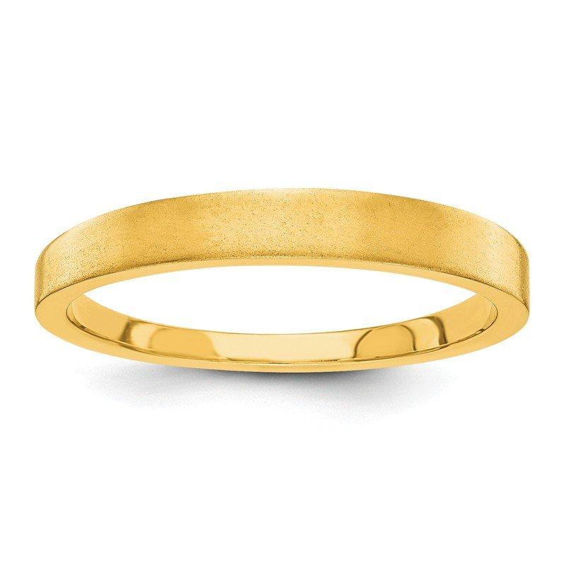 Quality Gold 14k 3mm Tapered Satin Band