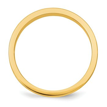 14k 3mm Tapered Satin Band