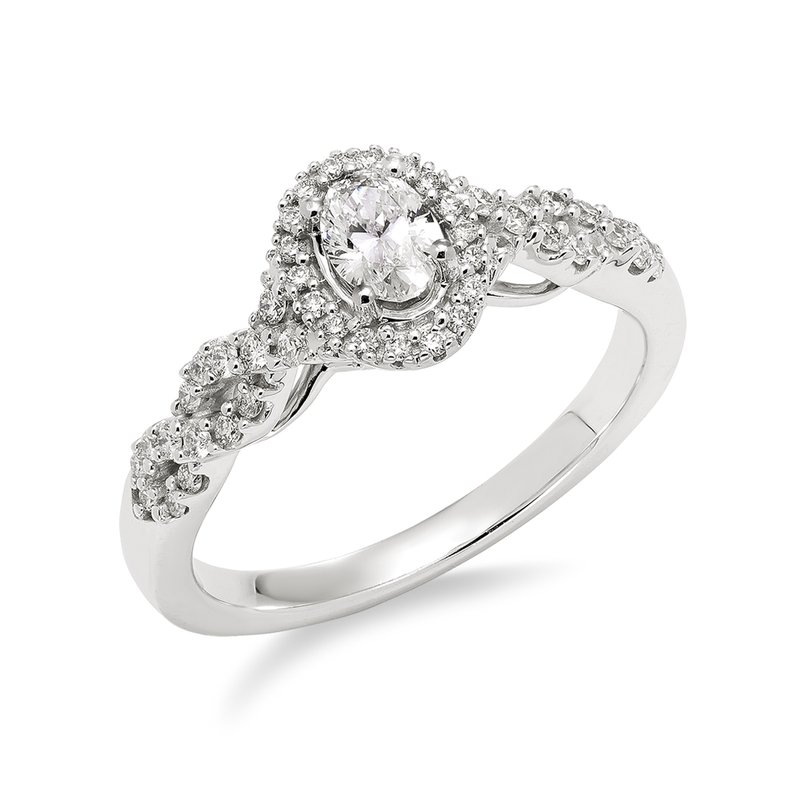 Victor White gold & diamond oval enagement