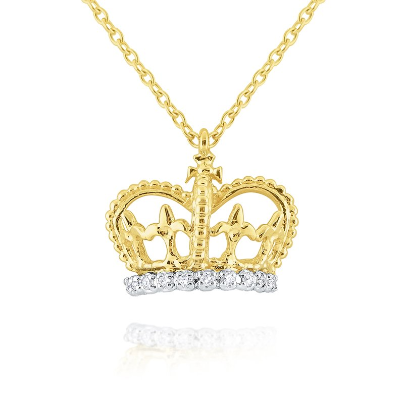 KC Designs Gold and Diamond Crown Necklace