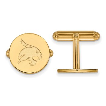 Gold Texas State University NCAA Cuff Links
