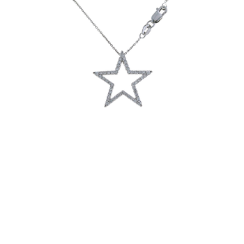 18KT GOLD LARGE STAR PENDANT WITH DIAMONDS