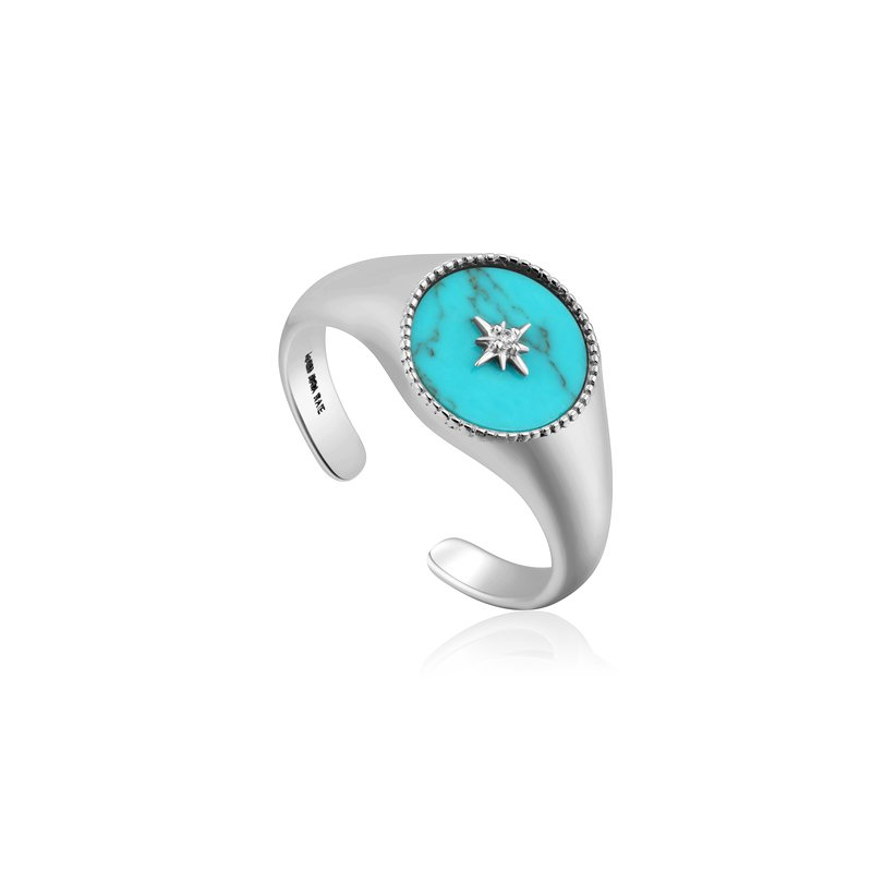 Ania Haie Turquoise Emblem Signet Ring