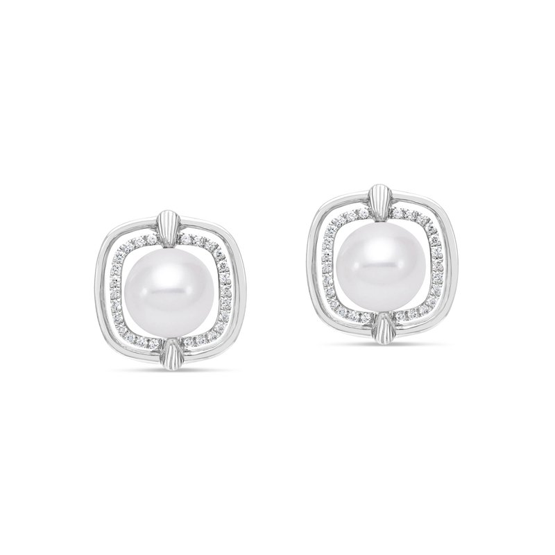 Mastoloni Pearls Square Pearl Earrings