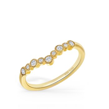 Bubble Diamond V Wedding Band