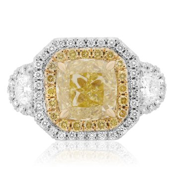 Fancy Yellow Diamond Ring