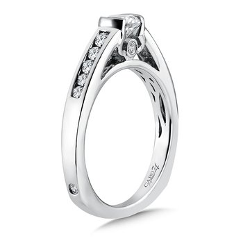 Engagement Ring With Channel-set Side Stones in 14K White Gold (1/2ct. tw.)