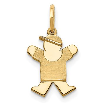 14k Mini Boy Joy Charm