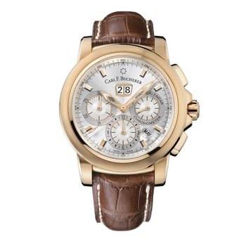 Patravi ChronoDate Annual 42mm 18KRG Mens Watch