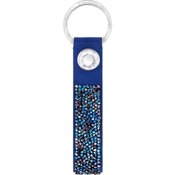 Glam Rock Key Ring, Blue, Stainless steel