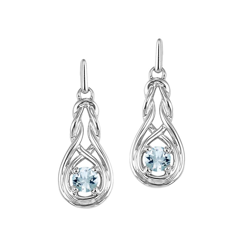 Mixables Silver Aquamarine Earrings (Available In all BirthStones)
