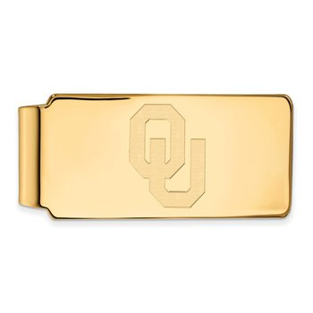 Gold-Plated Sterling Silver University of Oklahoma NCAA Money Clip